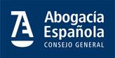 Logotipo Abogacía Española  negativo