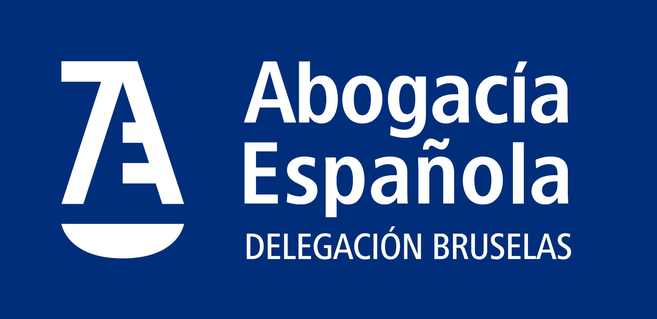 Logotipo Delegación Bruselas negativo