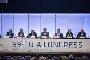 59 Congreso Union Internacional de Abogados celebrado en Valencia. Mesa inaugural del congreso