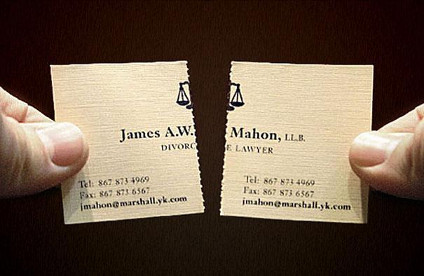 Resultado de imagen de tarjeta de visita original abogado matrimonialista