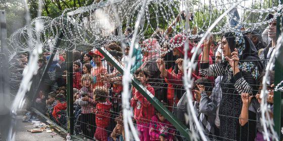 Refugiados alambrada
