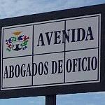 Avenida Abogado de Oficio Mijas solo cartel