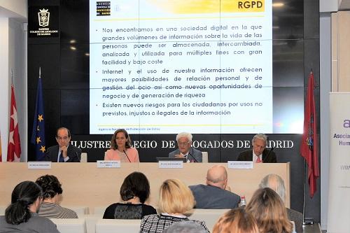 Juristas y representantes políticos abordan en el ICAM las implicaciones jurídicas del Reglamento Europeo de Protección de Datos